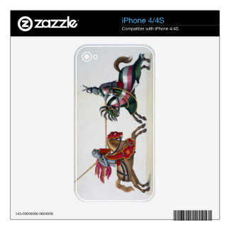 Two knights at a tournament, plate from 'A History Skin For The iPhone 4S