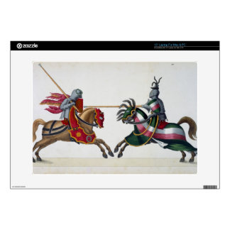 """Two knights at a tournament, plate from 'A History Skins For 15"""" Laptops"""