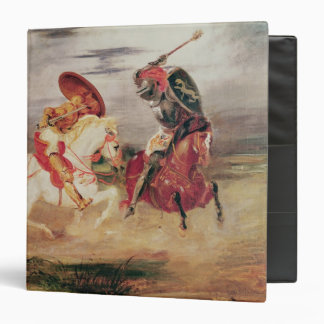 Two Knights Fighting in a Landscape, c.1824 Binder