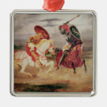 Two Knights Fighting in a Landscape, c.1824 Christmas Tree Ornament