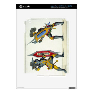 Two knights fighting, plate from 'A History of the iPad 3 Decals