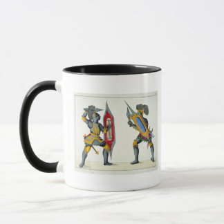 Two knights fighting, plate from 'A History of the Mug