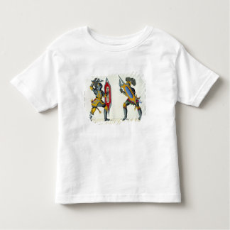 Two knights fighting, plate from 'A History of the Toddler T-shirt