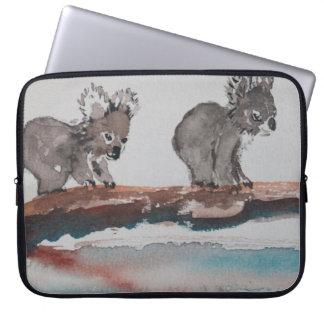 Two Koala Watercolor Art Laptop Sleeve