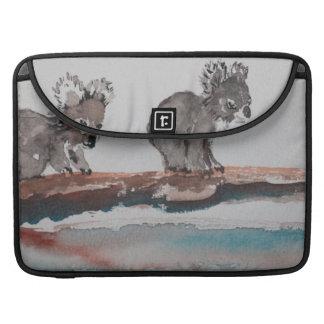 Two Koala Watercolor Art Sleeves For MacBook Pro