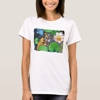 """Two Koi and Lotus"" by Agni Kama T-Shirt"