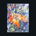 """Two Koi watercolor painting Canvas Print<br><div class=""""desc"""">Gorgeous watercolor print of 2 Koi fish by Kathleen Gasparin</div>"""