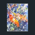 "Two Koi watercolor painting Canvas Print<br><div class=""desc"">Gorgeous watercolor print of 2 Koi fish by Kathleen Gasparin</div>"