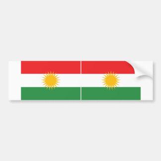 TWO Kurdistan Flag Bumper Sticker