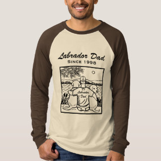Two Labradors and Dad T-Shirt