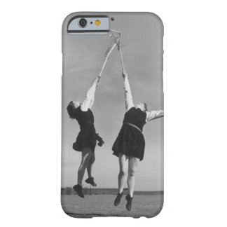 Two lacrosse players jump for the ball. barely there iPhone 6 case