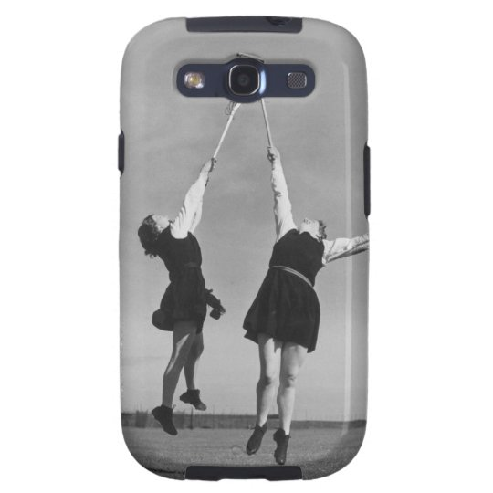 Two lacrosse players jump for the ball. galaxy s3 cover