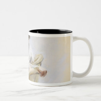 Two Ladies by the Water Two-Tone Coffee Mug