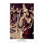 Two Ladies By Vittore Carpaccio Postcards