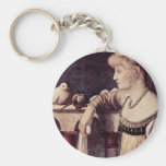 Two Ladies Detail By Carpaccio Vittore Keychains