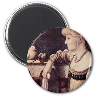 Two Ladies Detail By Carpaccio Vittore Refrigerator Magnet