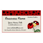 Two Ladybugs on a Flower Business Cards