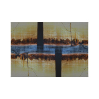 Two Lane Highway Stretched Canvas Prints