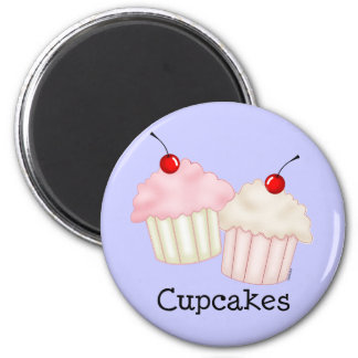 Two Large Cupcakes 2 Inch Round Magnet