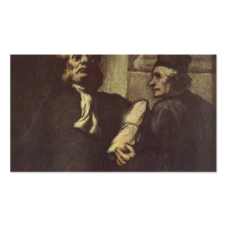 Two Lawyers by Honore Daumier Business Card Templates