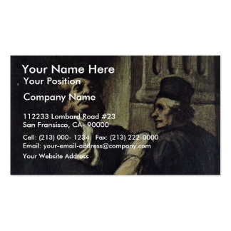 Two Lawyers,  By Honoré Daumier Business Cards