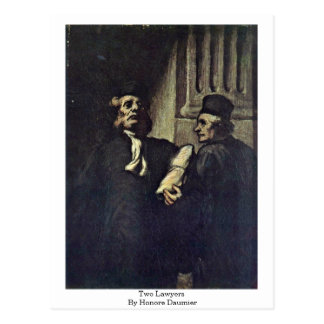 Two Lawyers, By Honore Daumier Postcard