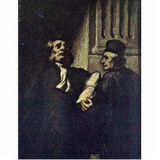 Two Lawyers,  By Honoré Daumier Statuette