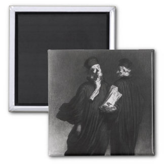 Two Lawyers, c.1862 2 Inch Square Magnet