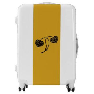 Two-leaf hollyhock luggage