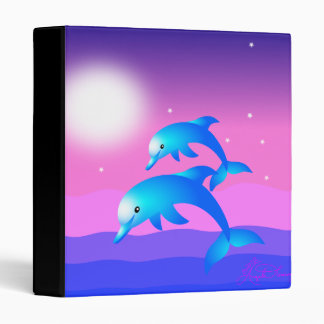 Two Leaping Dolphins 3 Ring Binders