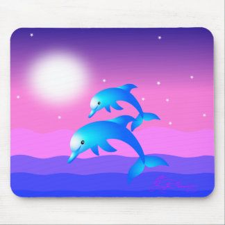 Two Leaping Dolphins Mouse Pad