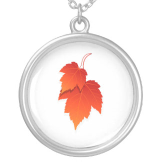 two leaves in fall colours.png silver plated necklace