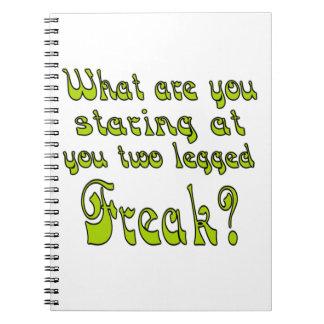 Two Legged Freak Note Book