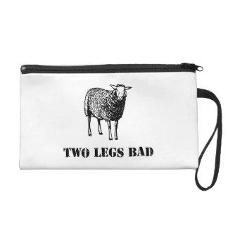 Two Legs Bad Sheep Wristlet Purses