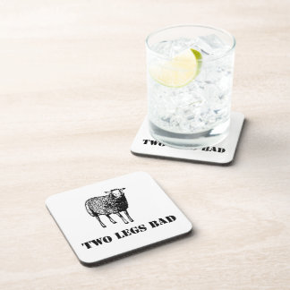 Two Legs Bad Sheep Beverage Coaster