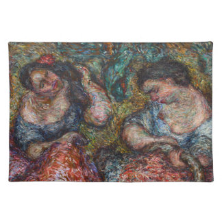 """Two Lei Sellers 20"""" x 14"""" Cloth Placemat"""