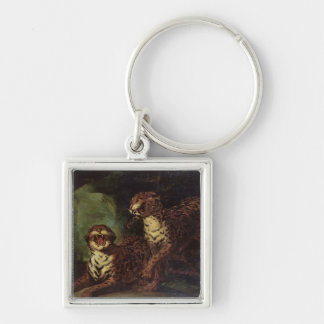 Two Leopards, c. 1820 Key Chain