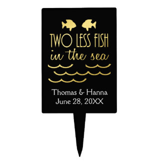 Two Less Fish in the Sea Wedding Cake Topper