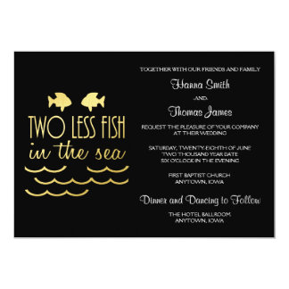 Two Less Fish in the Sea Wedding Card