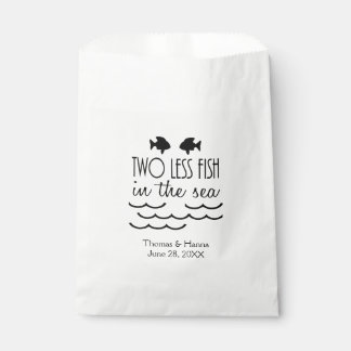 Two Less Fish in the Sea Wedding Favor Bag
