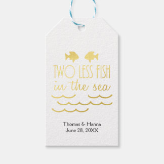 Two Less Fish in the Sea Wedding Gift Tags
