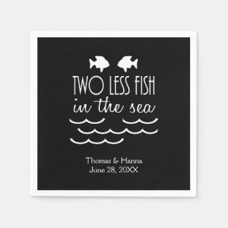 Two Less Fish in the Sea Wedding Paper Napkin