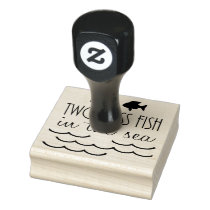 Two Less Fish in the Sea Wedding Rubber Stamp