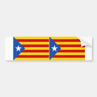 "TWO ""L'Estelada Blava"" Catalan Independence Flag Bumper Sticker"