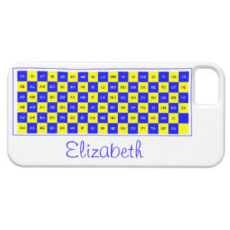 Two Letter Word Blue and Yellow US English iPhone 5 Covers