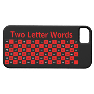 Two Letter Words Black and Red US version iPhone 5 Case