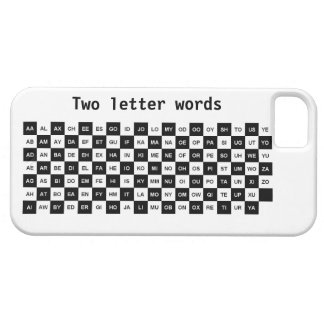 two letter words black and white Intl ver iPhone 5 Cases
