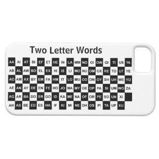 Two Letter Words  Black and white US version iPhone 5 Case