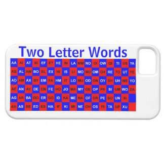Two Letter Words  Blue and Red US version iPhone 5 Covers