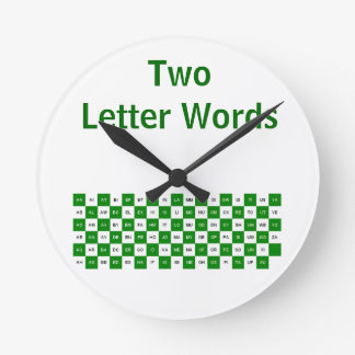 Two Letter Words  Green and white  clock US ver.